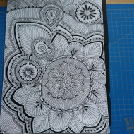 Zentangle Bild als Cover