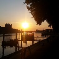 Sonnenuntergang an der Schlachte